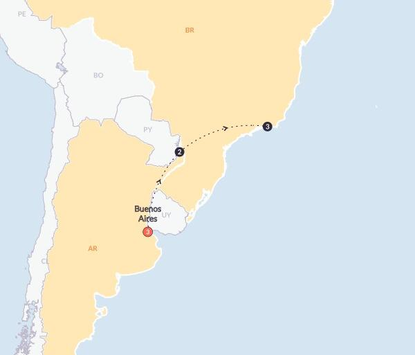 Local Immersion Culture Argentina & Brazil Experience(Twin Room,Start Buenos Aires, End Rio de Janeiro) package