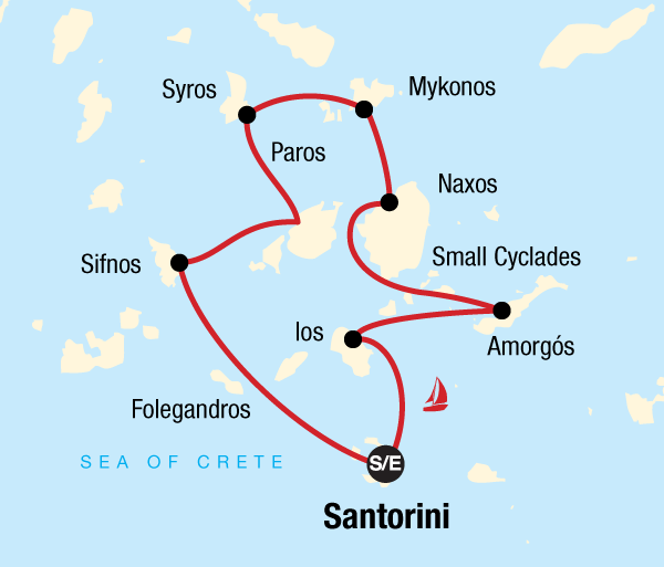 Mykonos Santorini Sailing Greece - Santorini to Santorini Trip