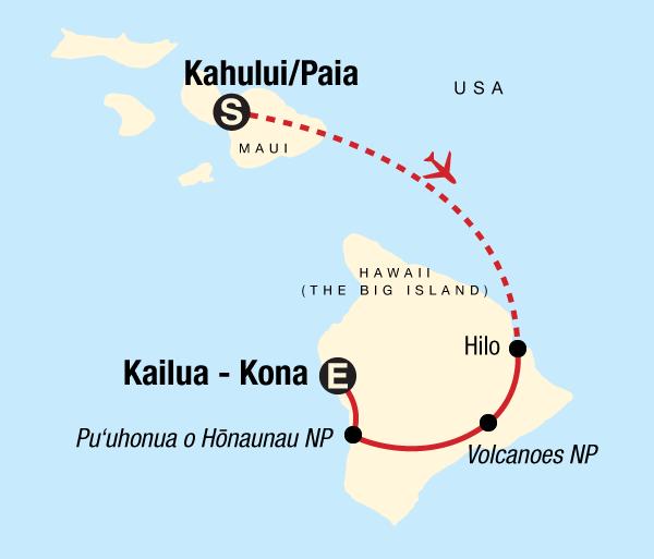 Hawaii Kona Highlights of Hawaii –Maui & Big Island Trip