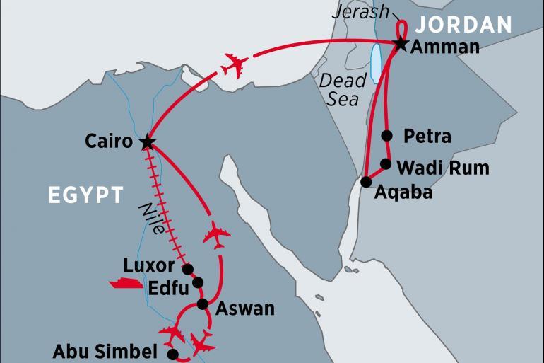 Aswan Cairo Classical Egypt & Jordan Trip