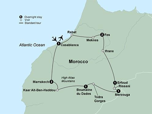Cultural Culture Colors of Morocco package
