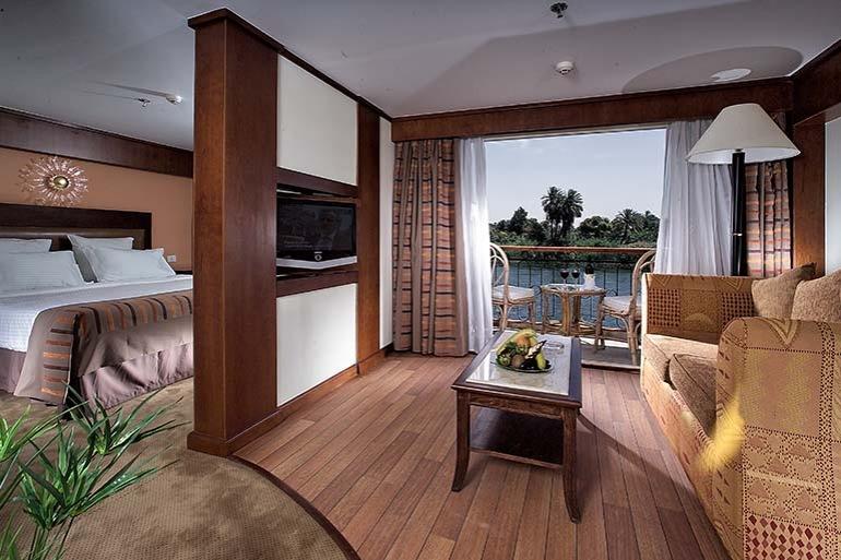 Cabin view of Sonesta Star Goddess Nile Cruise Ship, Egypt