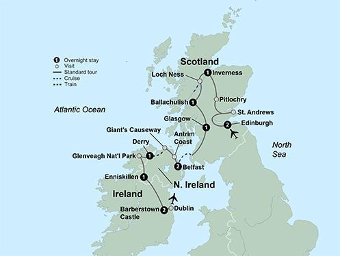 Dublin Edinburgh Exploring Scotland & Ireland featuring Northern Ireland Trip