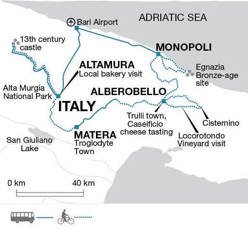 Puglia on Two Wheels tour