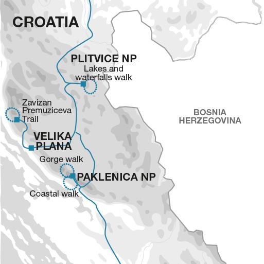 Walks and Coastal Towns of Croatia tour