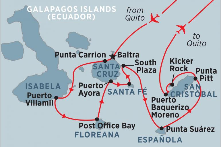 Quito San Cristobal Classic Galapagos: Southern Islands (Grand Queen Beatriz) Trip