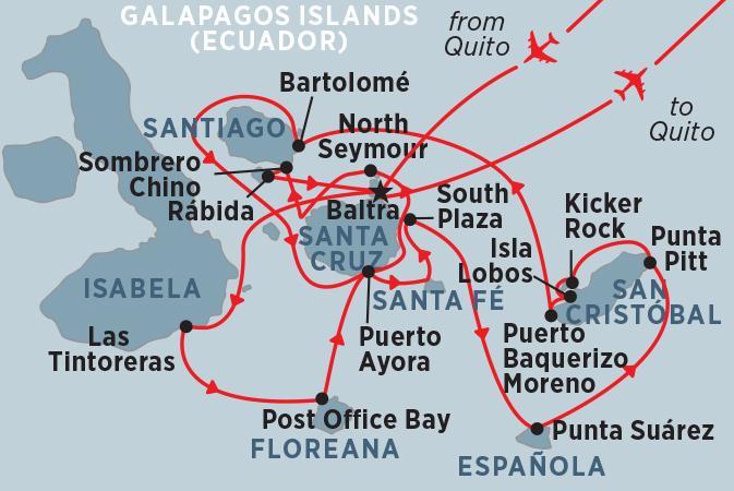 Galapagos Guayaquil Grand Galapagos (Grand Queen Beatriz) Trip