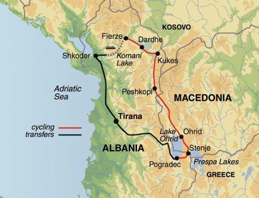 Cycling Cycling Cycle Macedonia & Northern Albania package