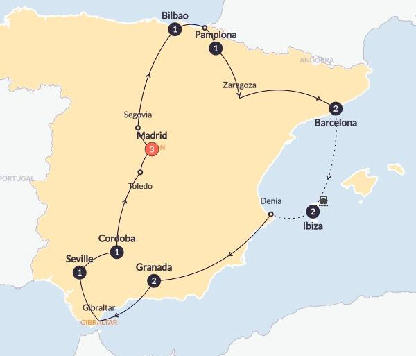 Barcelona Bilbao Spanish Spree Trip