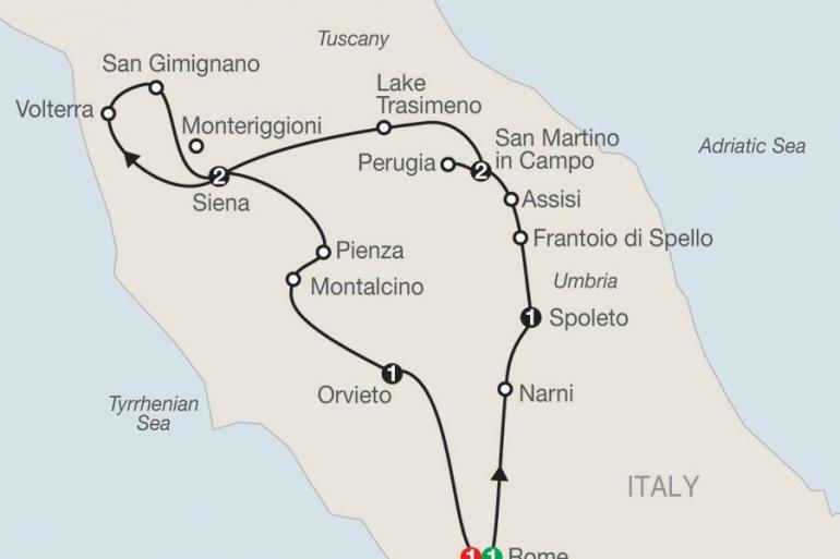Assisi Perugia Gems of Umbria & Tuscany Trip