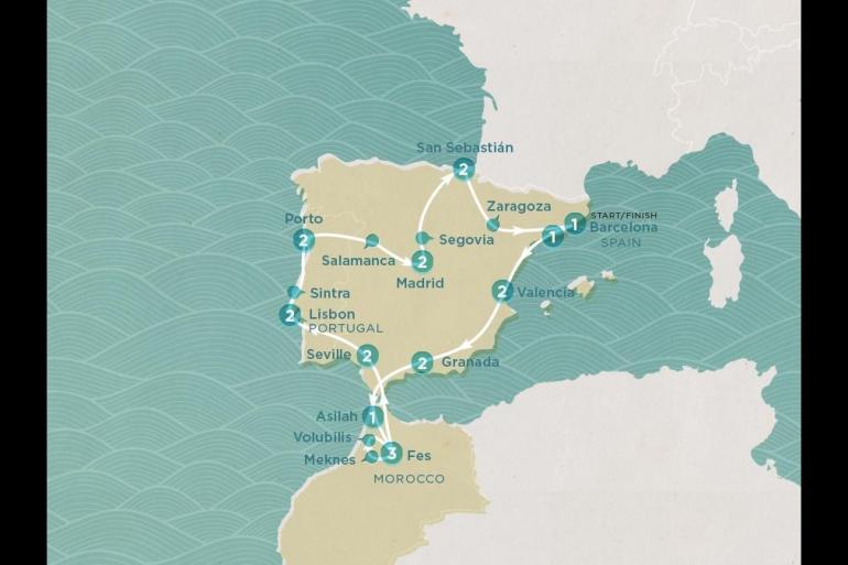Barcelona Lisbon Iberian Voyager Trip