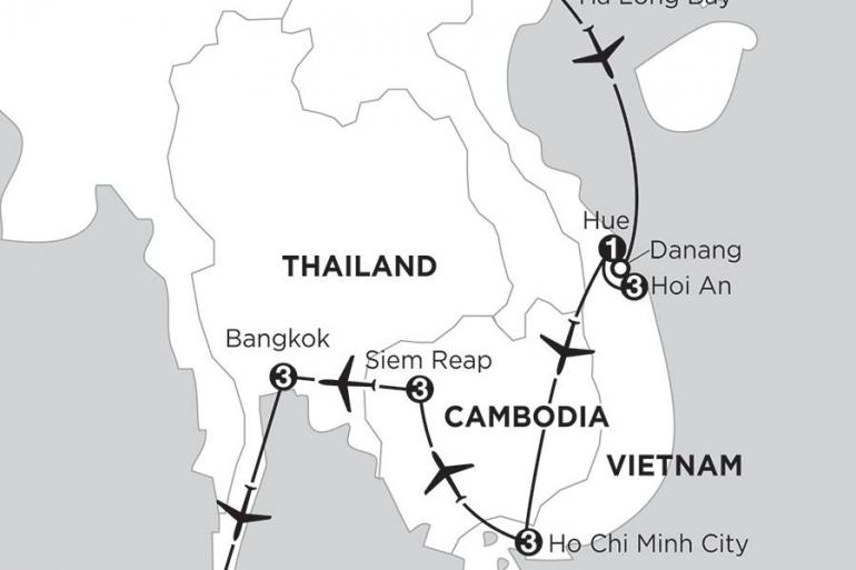 Bangkok Hanoi Enchanting Vietnam with Siem Reap, Bangkok, & Phuket Trip
