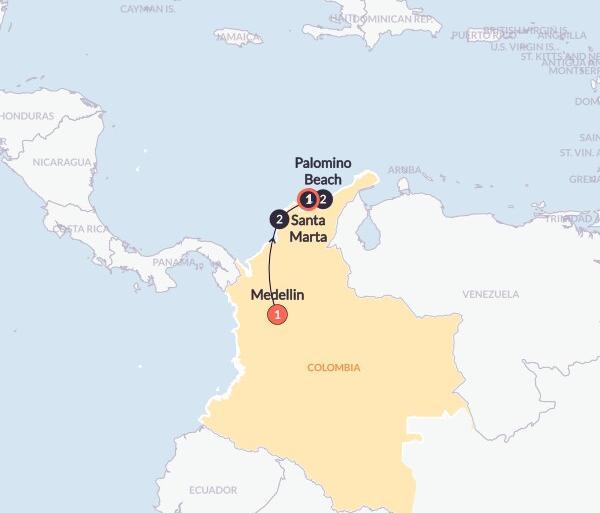 Caribbean Cartagena Colombian Coasts & Culture(Twin Room,Start Medellin, End Santa Marta) Trip
