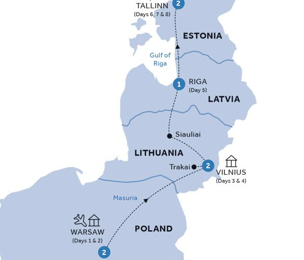 Riga Tallinn Warsaw and Baltic States (Summer 2019) Trip