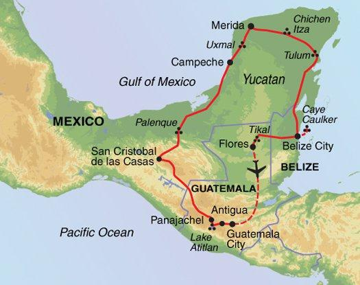 Caye Caulker Palenque La Ruta Maya Trip