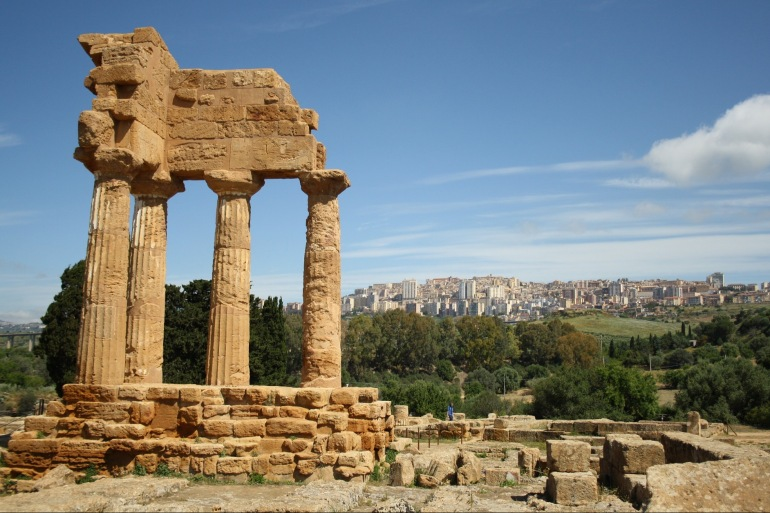 Beautiful view of agrigento, Italy_P
