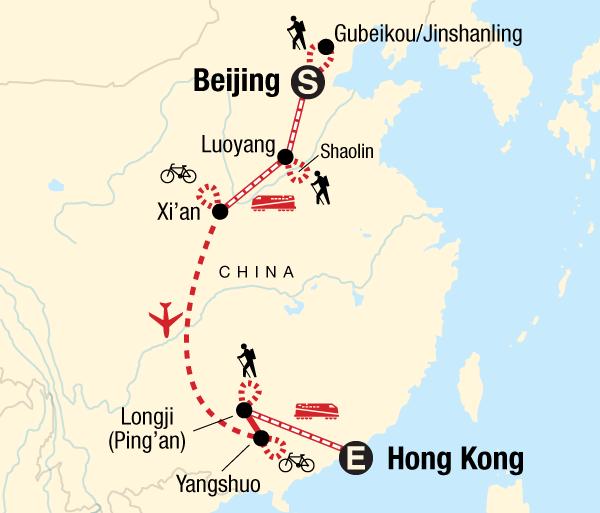 Beijing Guilin China Active Adventure Trip