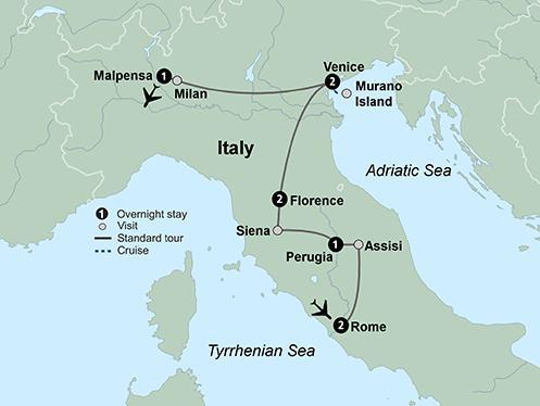 Milan Perugia Reflections of Italy Trip