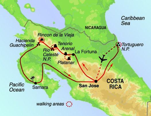 Hiking & Walking Hiking Costa Rica Coast to Coast  package