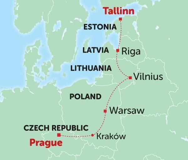 Prague Tallinn Tallinn to Prague Trip