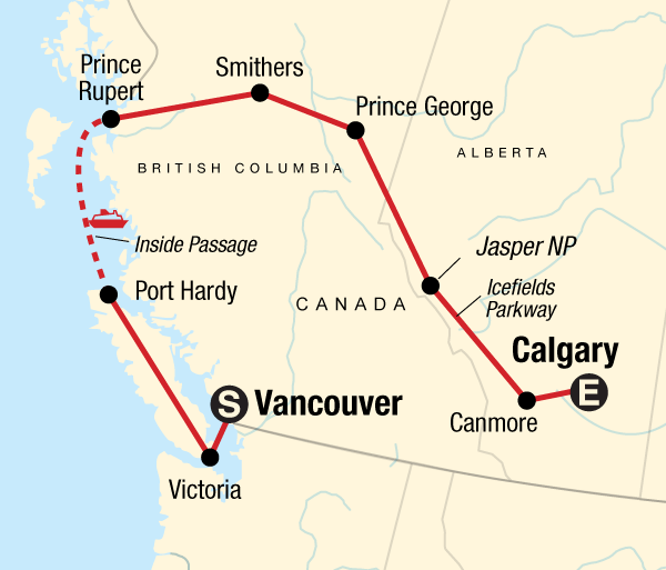 Calgary Canadian Rockies Vancouver Island & Northern Rockies Trip