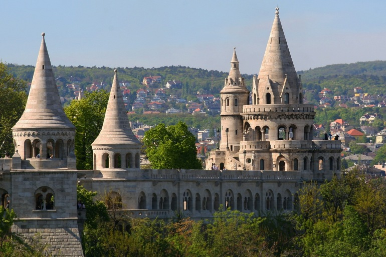 Fortress view in Budapest, Europe