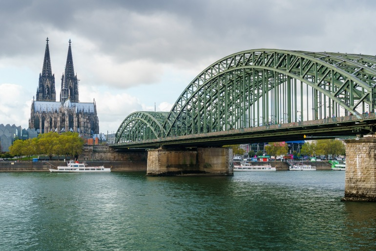 Hohenzollern Bridge at Cologne, Europe