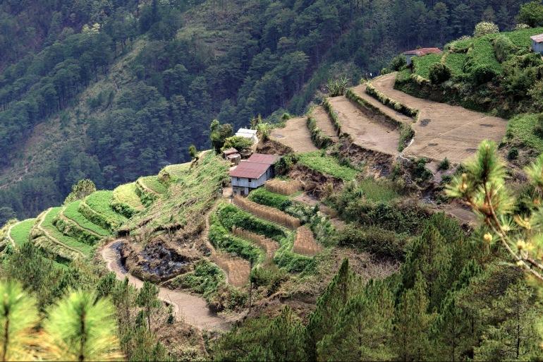 Terraces and mountains view of Sagada, Asia