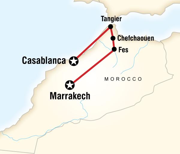 Casablanca Marrakech Northern Morocco on a Shoestring Trip