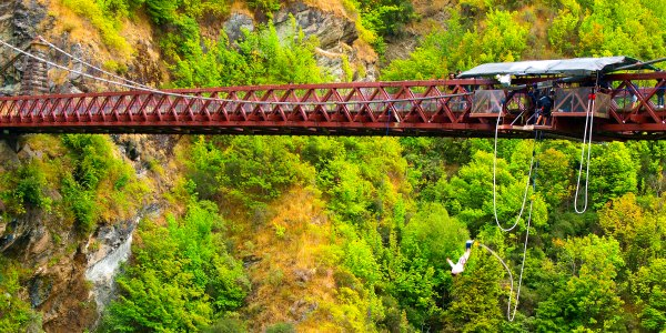 Bungee Jumping bridge in New Zealand G Adventures tour