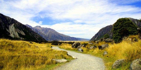 Hiking in Mount Cook New Zealand trafalgar tour