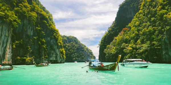 Thailand longboats and beach On the Go Tours