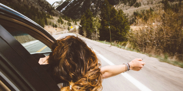 Young woman on independent trip through Great Value Vacations