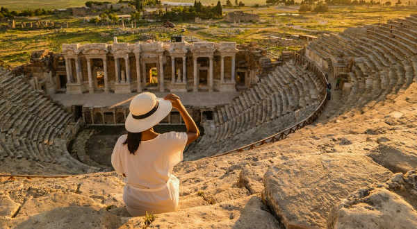 Woman in Turkey on a tour with Overseas Adventure Travel (O.A.T. Tours)